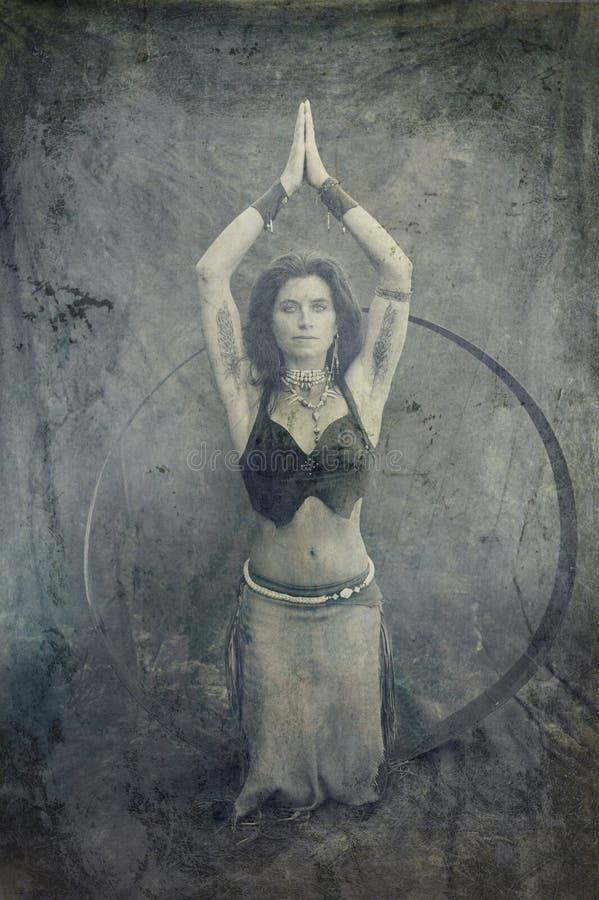ιερή γυναίκα διανυσματική απεικόνιση