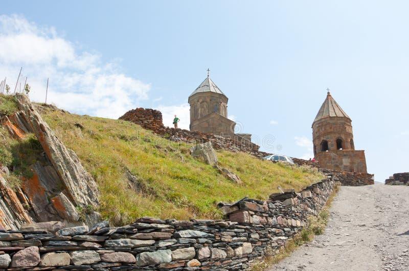 Ιερή εκκλησία τριάδας Sameba- Tsminda στοκ εικόνα