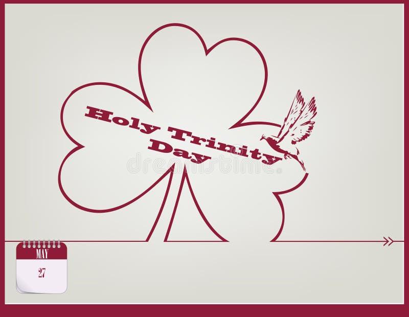 Ιερή ημέρα τριάδας καρτών ελεύθερη απεικόνιση δικαιώματος