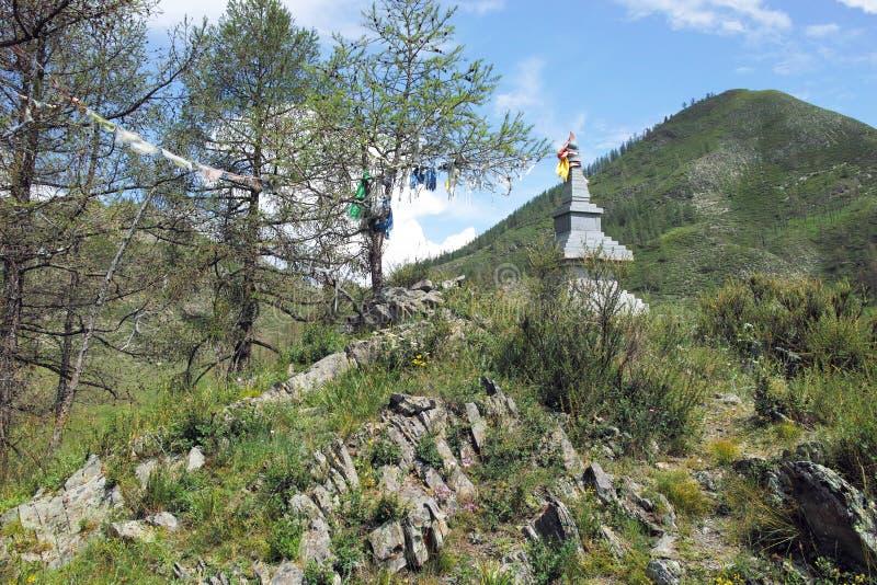 Ιερή θέση του βουδιστικού stupa στοκ εικόνες