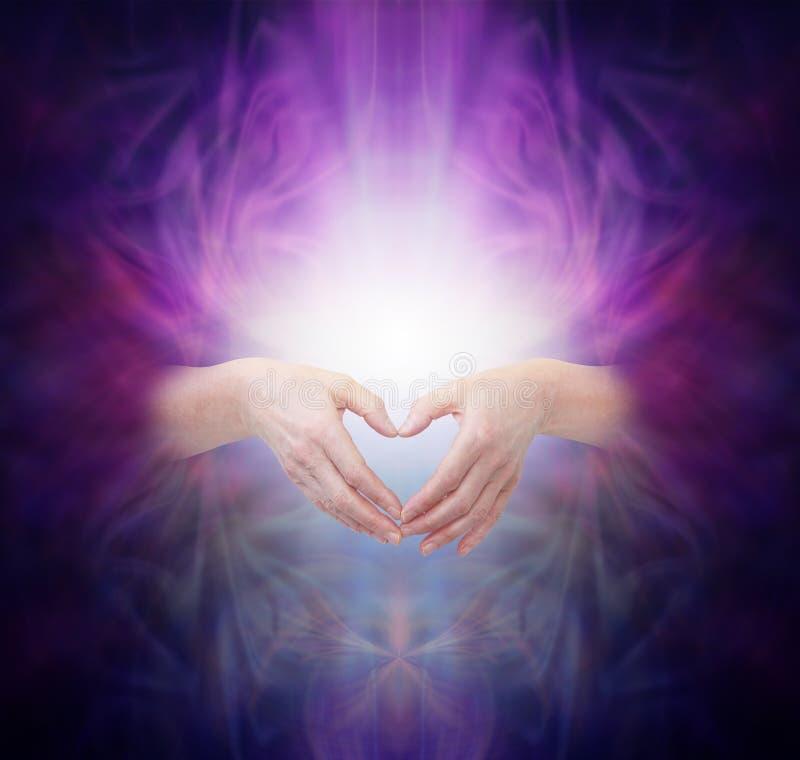 Ιερή θεραπεύοντας ενέργεια ελεύθερη απεικόνιση δικαιώματος