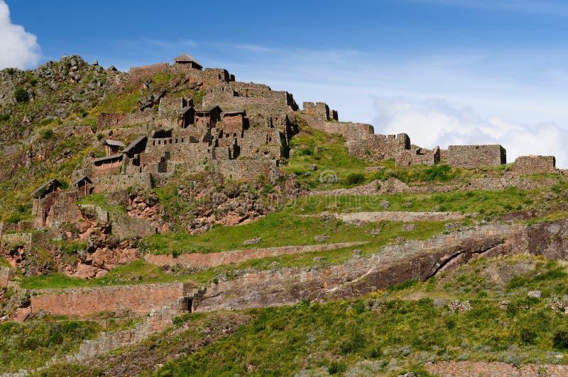 ιερή κοιλάδα καταστροφών του Περού inca pisaq στοκ εικόνα