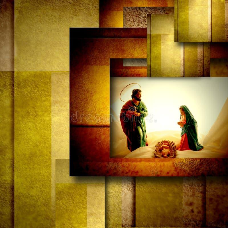 Ιερή οικογενειακή κάρτα Χριστουγέννων στοκ φωτογραφία με δικαίωμα ελεύθερης χρήσης