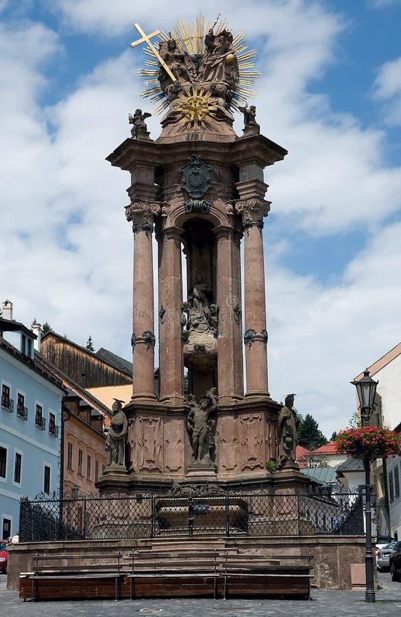 Ιερή στήλη τριάδας, Banska Stiavnica στοκ φωτογραφία