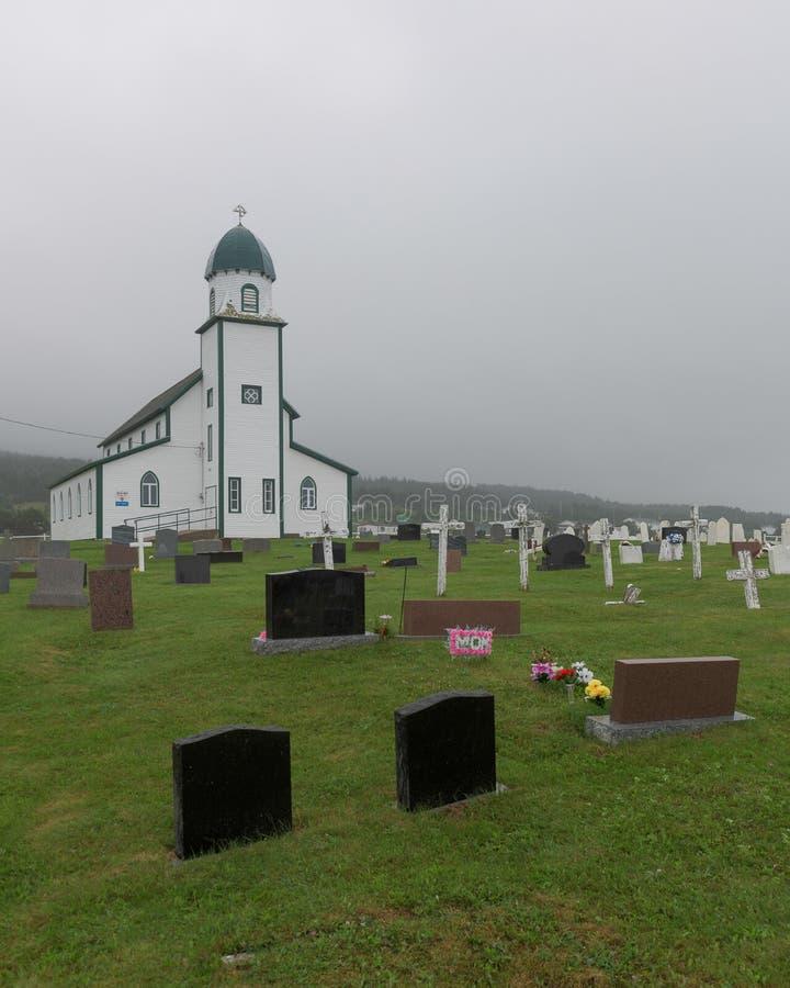 Ιερή τριάδα Αγγλικανική Εκκλησία και νεκροταφείο Codroy στοκ εικόνες με δικαίωμα ελεύθερης χρήσης