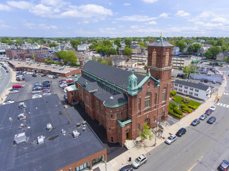 Ιερή Rectory καρδιών εκκλησία, Malden, μΑ, ΗΠΑ στοκ εικόνα
