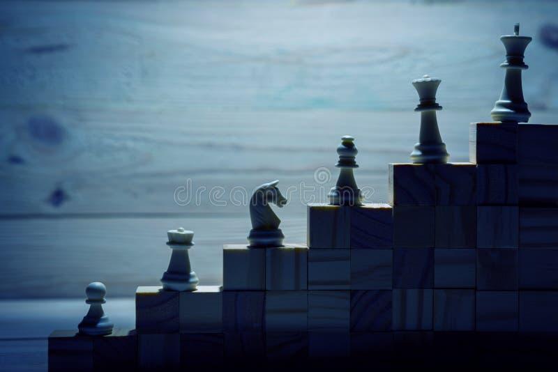 ιεραρχία lBusiness Έννοια στρατηγικής με τα κομμάτια σκακιού στοκ φωτογραφίες με δικαίωμα ελεύθερης χρήσης