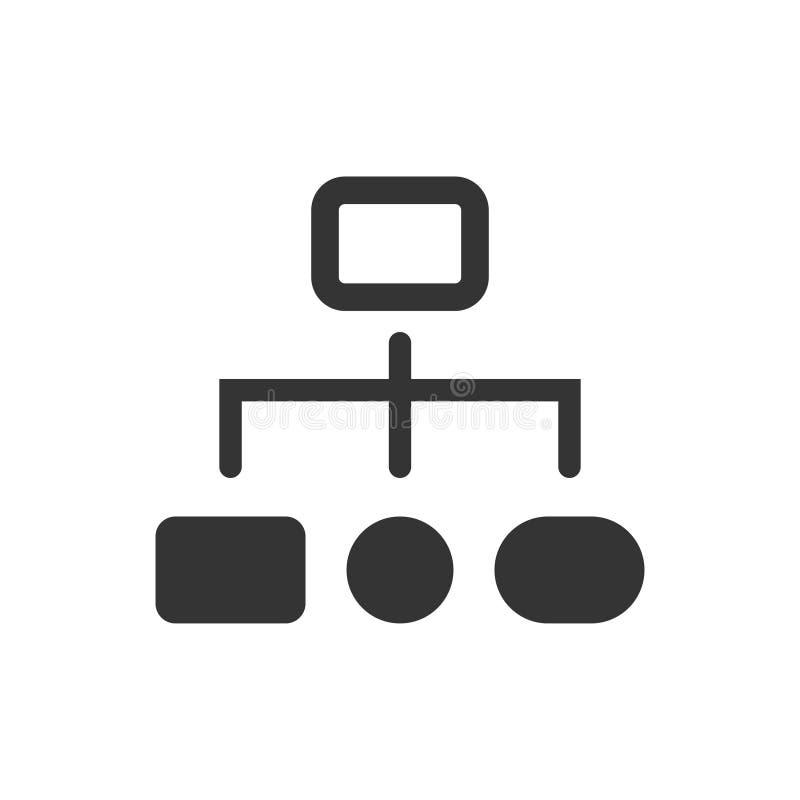 Ιεραρχικό εικονίδιο δομών διανυσματική απεικόνιση