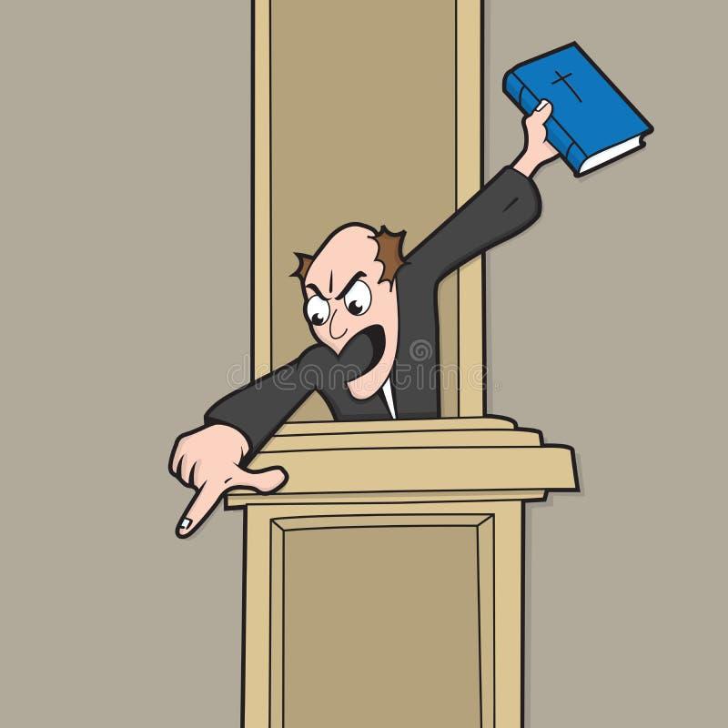 ιεροκήρυκας θειαφιού helll απεικόνιση αποθεμάτων