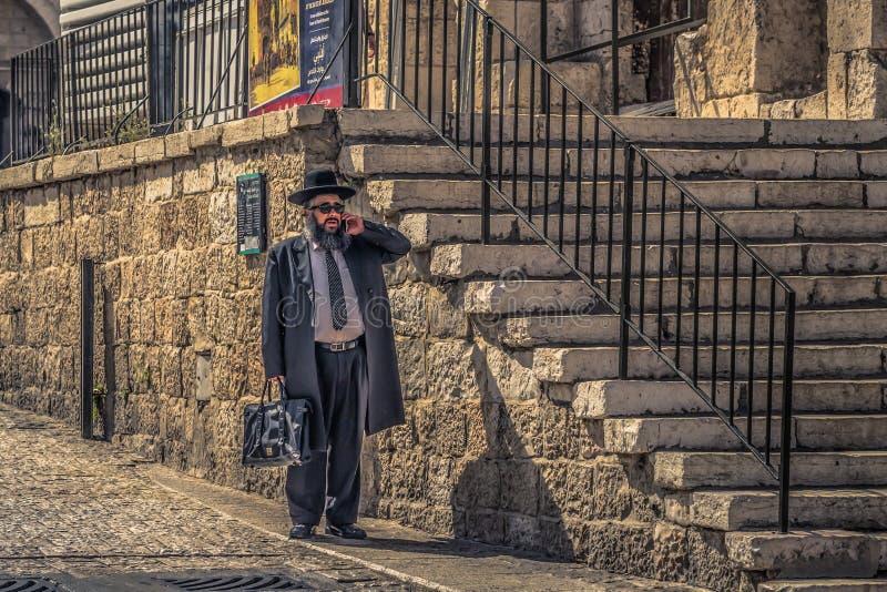 Ιερουσαλήμ - 04 Οκτωβρίου 2018: Ορθόδοξοι Εβραίοι στην είσοδο της παλιάς Ï€Ï στοκ φωτογραφία με δικαίωμα ελεύθερης χρήσης