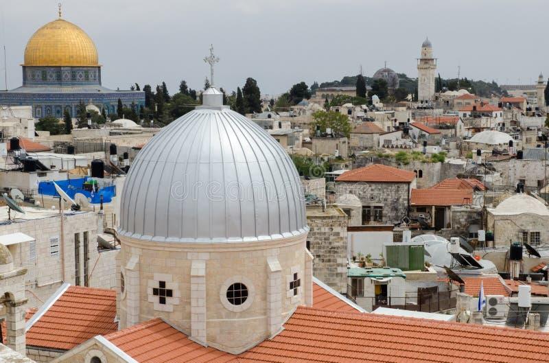 Ιερουσαλήμ παλαιά Άποψη από το αυστριακό άσυλο στοκ φωτογραφίες