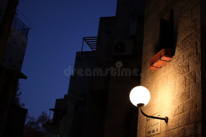 Ιερουσαλήμ μέχρι την αυγή στοκ φωτογραφία με δικαίωμα ελεύθερης χρήσης