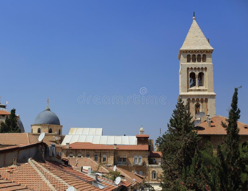 Ιερουσαλήμ, λουθηρανική εκκλησία του απελευθερωτή στοκ φωτογραφία με δικαίωμα ελεύθερης χρήσης