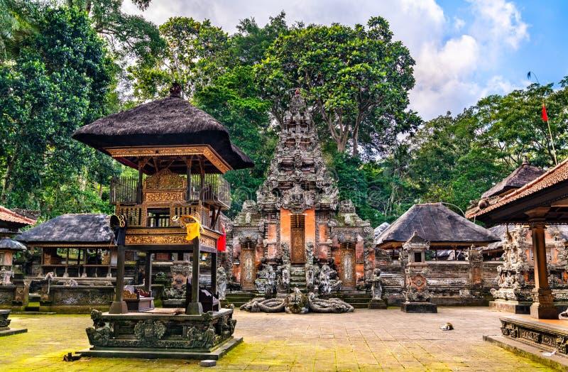 Ιερός Δαλέμ Αγκούγκ Πανταγγγκάλ Ναός στο Καταφύγιο Δασών Πιθήκων στο Μπαλί της Ινδονησίας στοκ φωτογραφίες με δικαίωμα ελεύθερης χρήσης