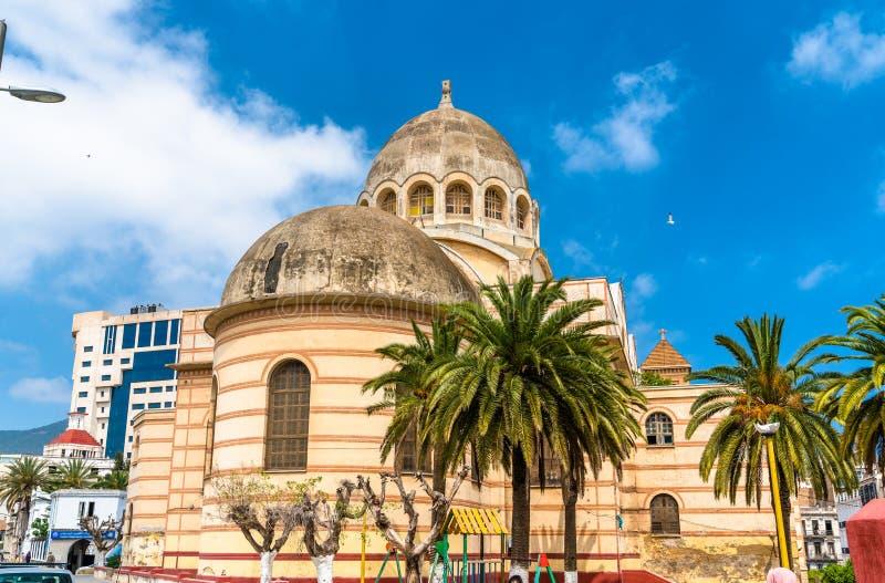 Ιερός καθεδρικός ναός καρδιών του Οράν, αυτήν την περίοδο μια δημόσια βιβλιοθήκη, στο Οράν, Αλγερία στοκ εικόνες με δικαίωμα ελεύθερης χρήσης