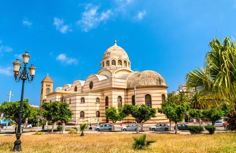 Ιερός καθεδρικός ναός καρδιών του Οράν, αυτήν την περίοδο μια δημόσια βιβλιοθήκη, στο Οράν, Αλγερία στοκ φωτογραφίες με δικαίωμα ελεύθερης χρήσης