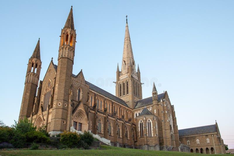 Ιερός καθεδρικός ναός καρδιών σε Bendigo στοκ φωτογραφία
