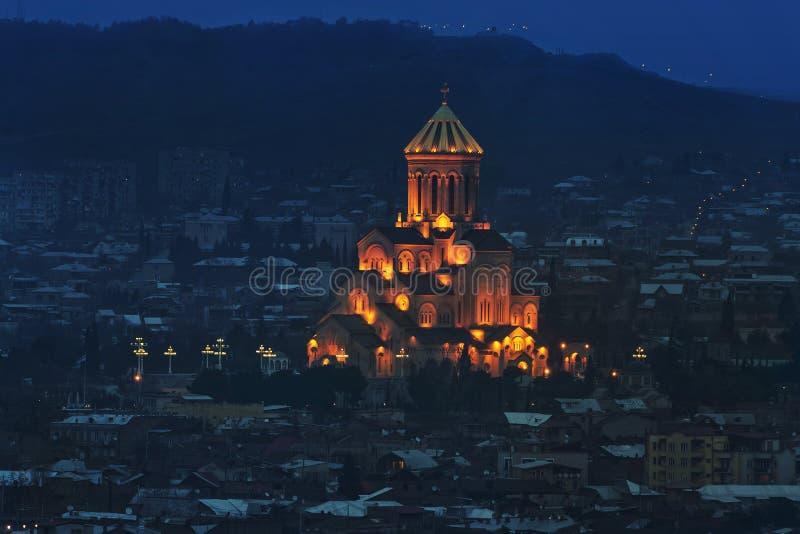 Ιερός καθεδρικός ναός τριάδας του Tbilisi στοκ εικόνες με δικαίωμα ελεύθερης χρήσης