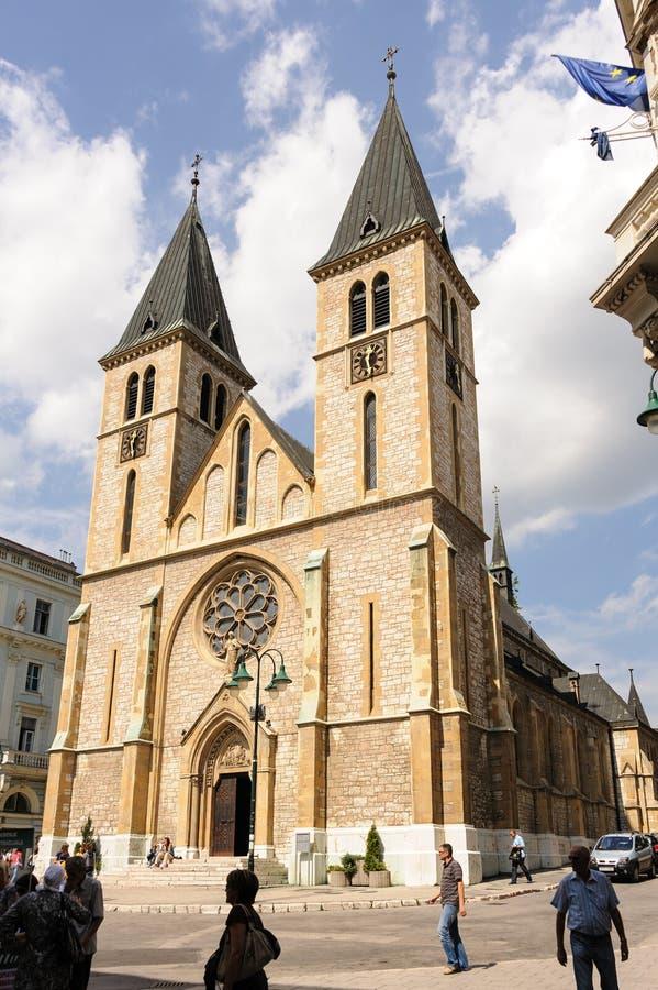 Ιερός καθολικός καθεδρικός ναός Σαράγεβο καρδιών στοκ φωτογραφία με δικαίωμα ελεύθερης χρήσης