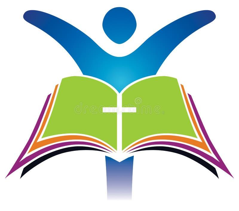 Ιερό διαγώνιο λογότυπο Βίβλων απεικόνιση αποθεμάτων