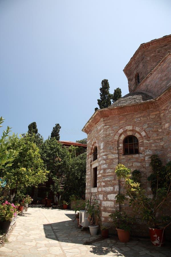 Ιερό μοναστήρι Evangelistria στοκ φωτογραφία με δικαίωμα ελεύθερης χρήσης
