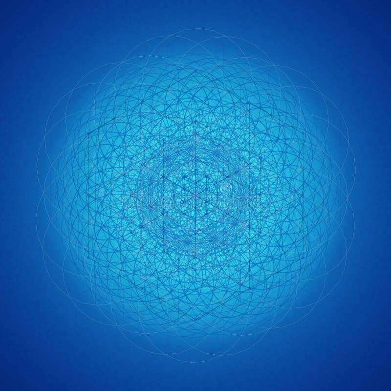 Ιερό μπλε υπόβαθρο συμβόλων γεωμετρίας απεικόνιση αποθεμάτων