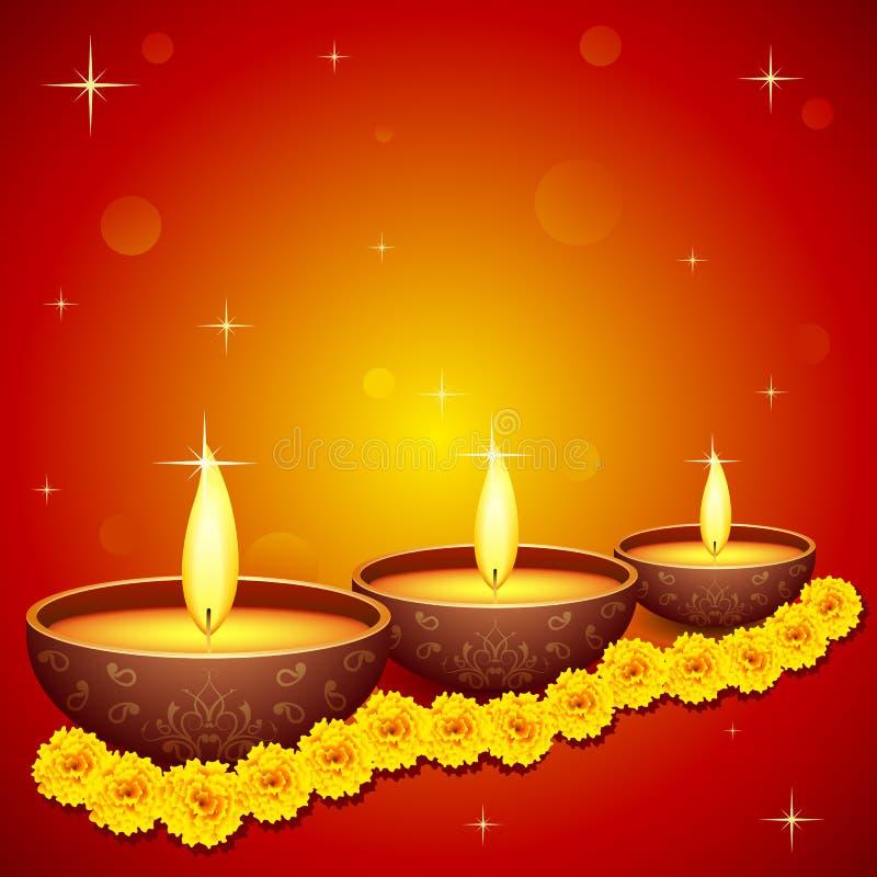 Ιερό Diya για το φεστιβάλ διανυσματική απεικόνιση