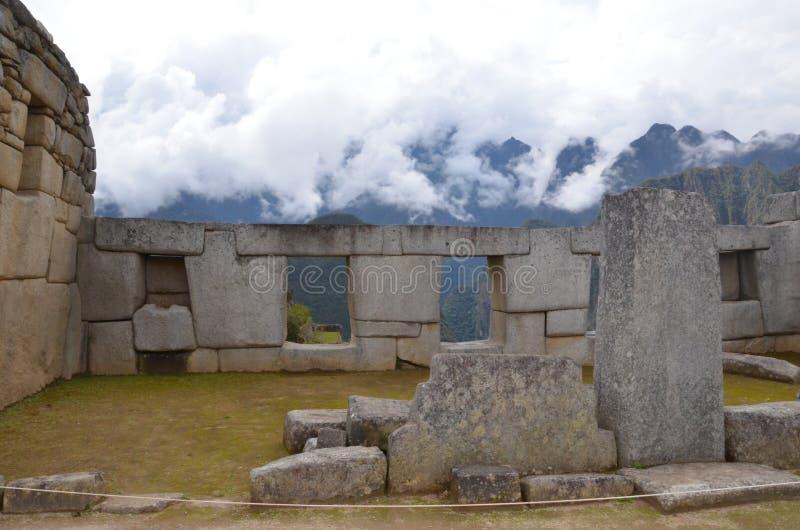Ιερό plaza Picchu Machu στοκ φωτογραφία