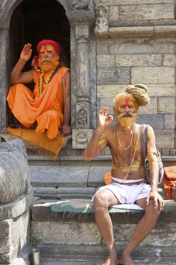 ιερό sadhu ατόμων του Κατμαντού στοκ φωτογραφία με δικαίωμα ελεύθερης χρήσης
