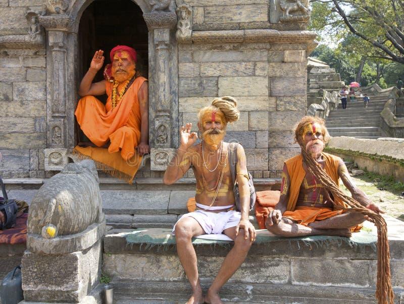 ιερό sadhu ατόμων του Κατμαντού στοκ εικόνες με δικαίωμα ελεύθερης χρήσης