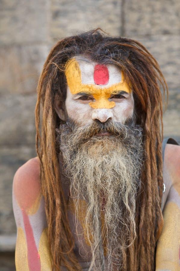 ιερό sadhu ατόμων στοκ εικόνα με δικαίωμα ελεύθερης χρήσης