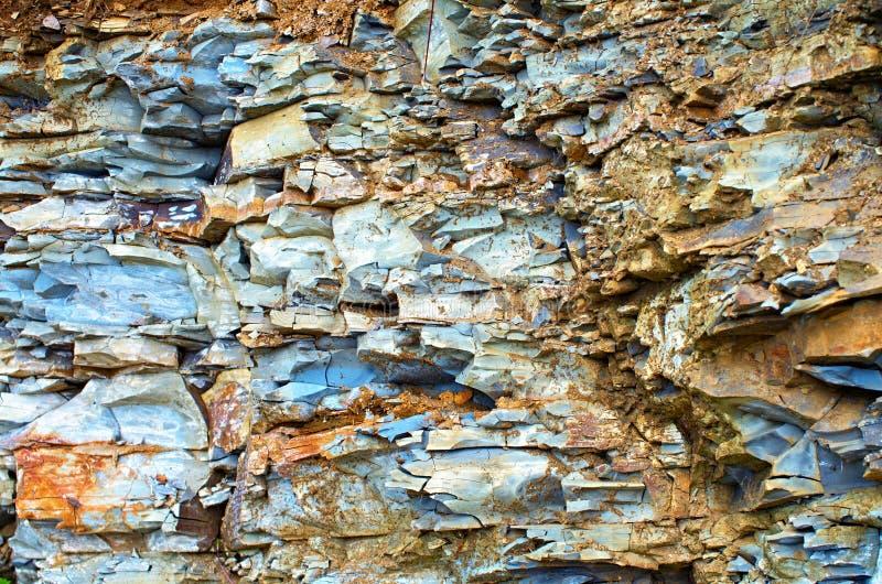 Ιζηματώδεις βράχοι Carpathians Ουκρανία στοκ εικόνες
