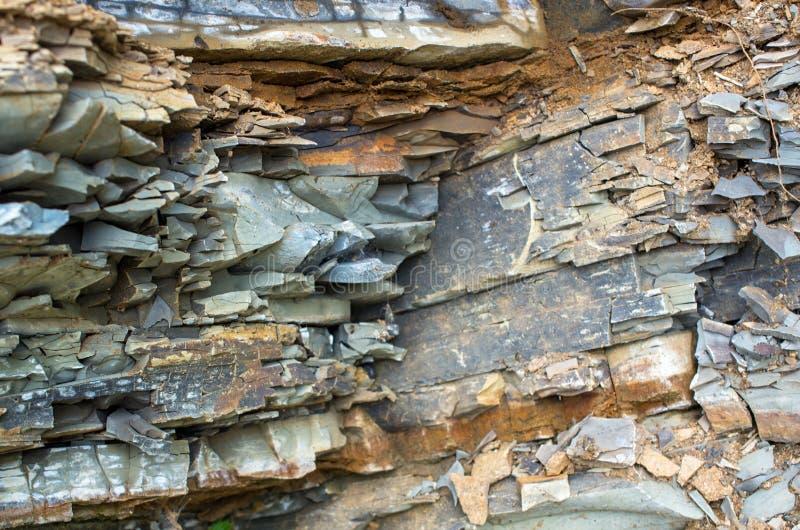 Ιζηματώδεις βράχοι Carpathians Ουκρανία στοκ εικόνες με δικαίωμα ελεύθερης χρήσης