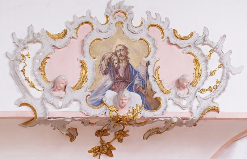 Ιησούς ο καλός ποιμένας στοκ εικόνες