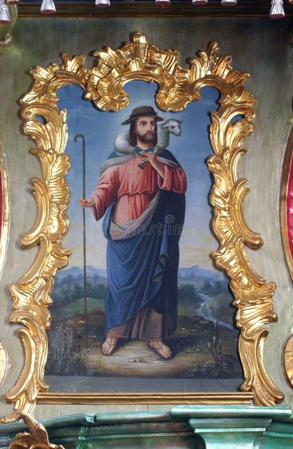 Ιησούς ο καλός ποιμένας στοκ φωτογραφία με δικαίωμα ελεύθερης χρήσης
