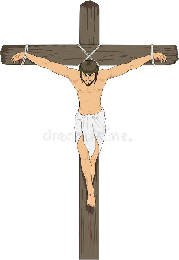 Ιησούς στη διαγώνια διανυσματική απεικόνιση διανυσματική απεικόνιση