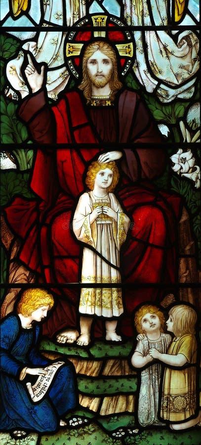 Ιησούς Χριστός που ευλογεί ένα παιδί στοκ φωτογραφία με δικαίωμα ελεύθερης χρήσης