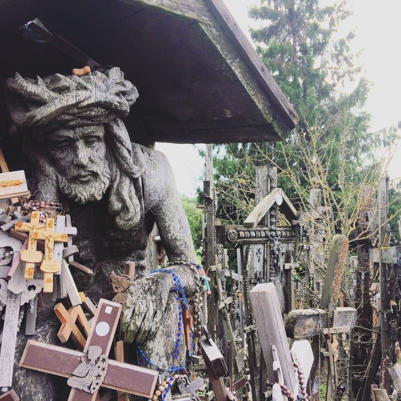 Ιησούς Crise Hill των σταυρών στοκ φωτογραφίες