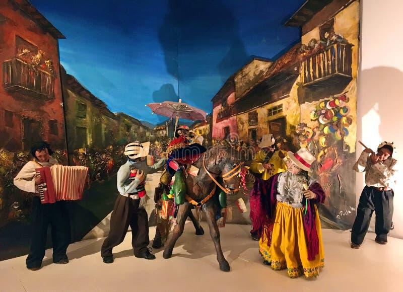 Ιθαγενείς που παίζουν τη μουσική στο μουσείο Pumapungo Cuenca, Ισημερινός στοκ φωτογραφίες με δικαίωμα ελεύθερης χρήσης