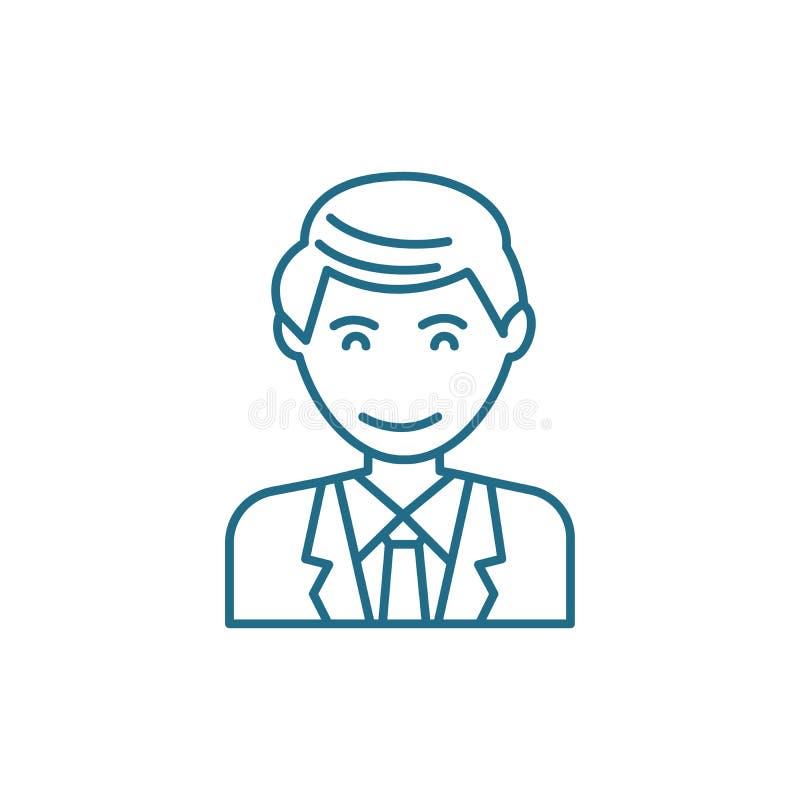 Ικανοποίηση με την έννοια εικονιδίων εργασίας γραμμική Ικανοποίηση με το διανυσματικό σημάδι γραμμών εργασίας, σύμβολο, απεικόνισ απεικόνιση αποθεμάτων