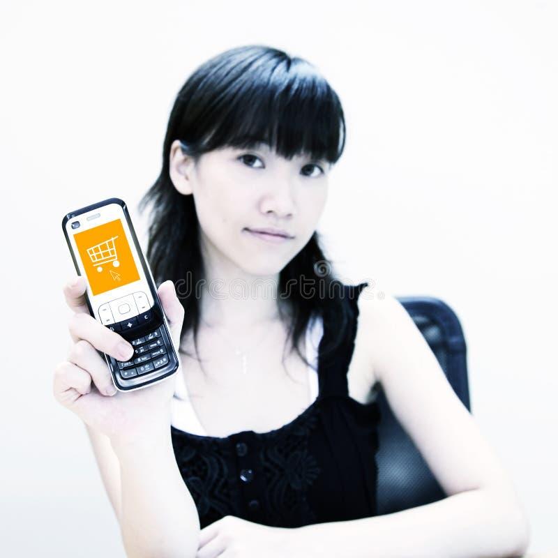 ικανοποιημένη κινητή αγορά ελεύθερη απεικόνιση δικαιώματος