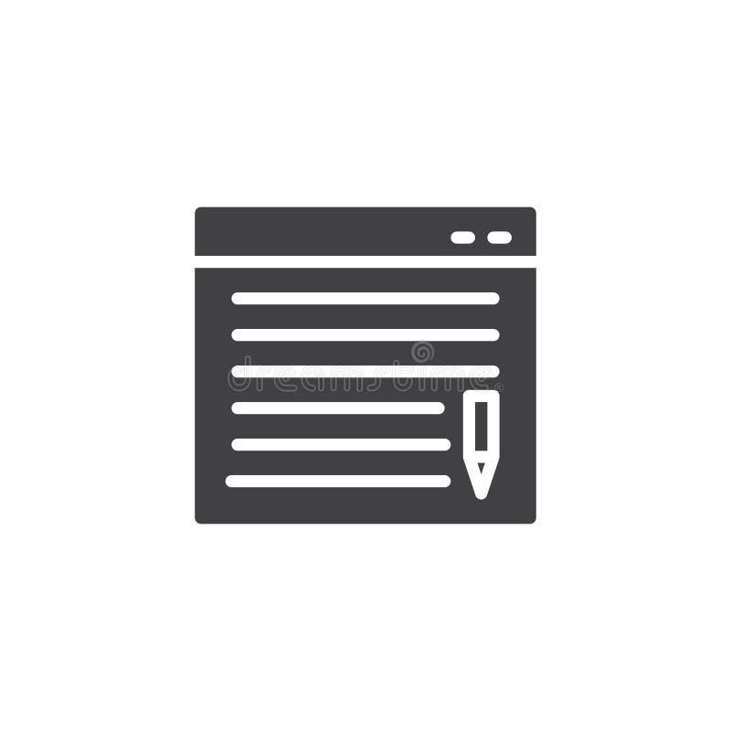Ικανοποιημένο διανυσματικό εικονίδιο Blog ελεύθερη απεικόνιση δικαιώματος