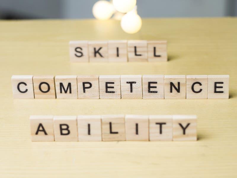 Ικανότητα δυνατότητας ικανότητας, έννοια αποσπασμάτων επιχειρησιακών λέξεων στοκ εικόνα με δικαίωμα ελεύθερης χρήσης