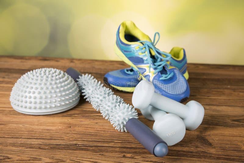 Ικανότητα, εξοπλισμός άσκησης, υγιής τρόπος ζωής στοκ εικόνες