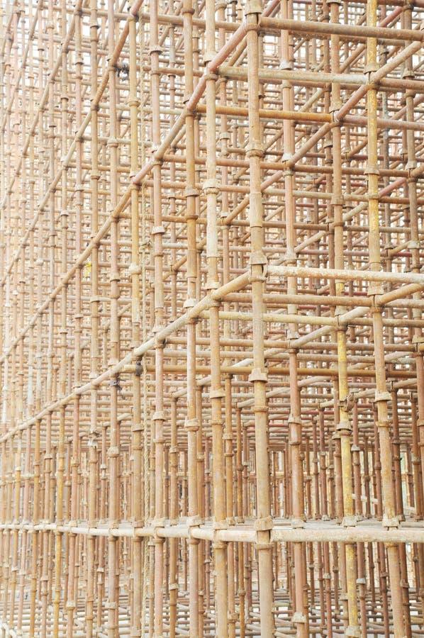 ικριώματα πόλων σιδήρου στοκ φωτογραφία με δικαίωμα ελεύθερης χρήσης