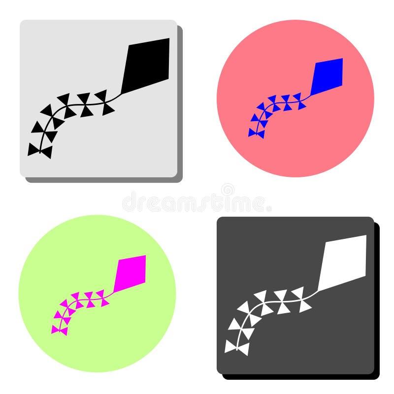ικτίνος Επίπεδο διανυσματικό εικονίδιο διανυσματική απεικόνιση