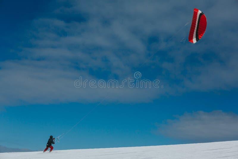 Ικτίνος και σκι στοκ φωτογραφίες