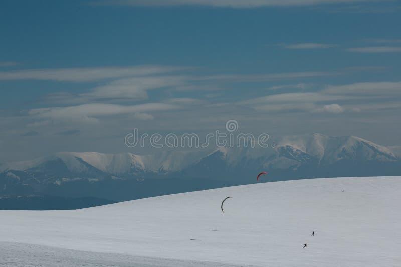 Ικτίνος και σκι στοκ εικόνες
