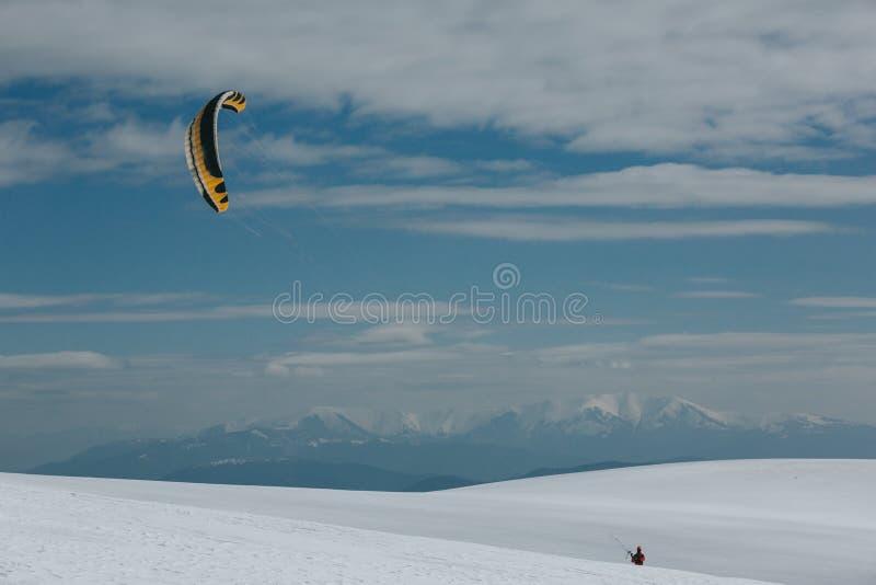 Ικτίνος και σκι στοκ εικόνα