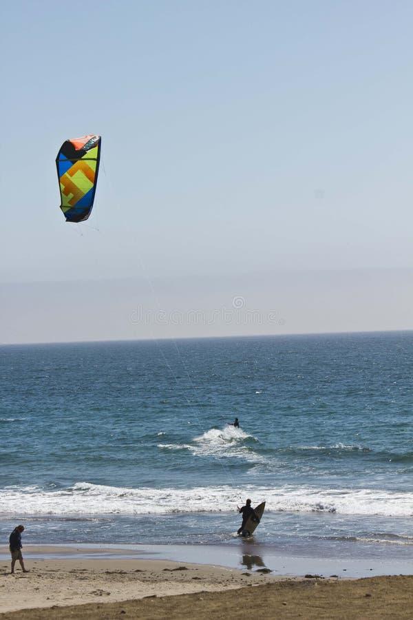 Ικτίνος που κάνει σερφ στο Ειρηνικό Ωκεανό στοκ εικόνα με δικαίωμα ελεύθερης χρήσης